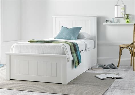 White Wooden Ottoman Bed New White Wooden Ottoman Storage Bed Painted Wood Wooden Beds Beds