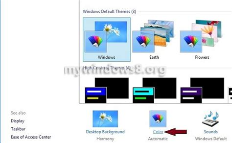 how to change color on windows 8 change color schemes in windows 8 mywindows8 org