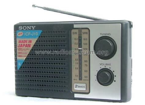 Sony J10 icf j10 radio sony corporation tokyo build 1985 3 pict
