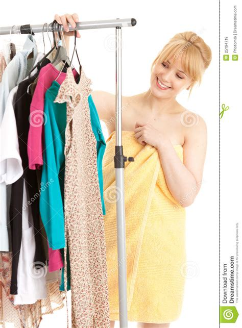 Shower Clothes by After Shower Choosing Clothes Royalty Free Stock Photos Image 25194718