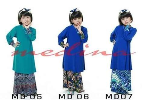 Baju Kurung Cotton Kanak Kanak baju kurung moden lycra medina untuk si comel anda di hari raya saeeda collections