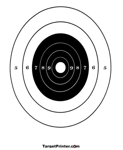 printable 22lr targets printable target large numbered bullseye gun shooting
