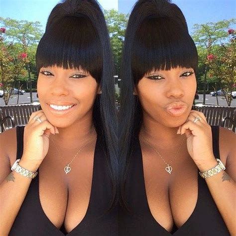 how to do a swoop bang on african american hair 20 great ponytails with bangs inspiration ideas ponytail