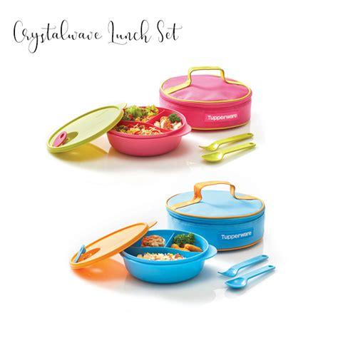 Tupperware Fancy Crystalwave Lunch Set fancy crystalwave lunch set tupperware katalog promo
