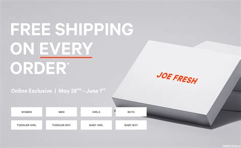 Free Shipping On Every Order 75 by Joe Fresh Canada Clearance Sale Items As Low As 5 Free