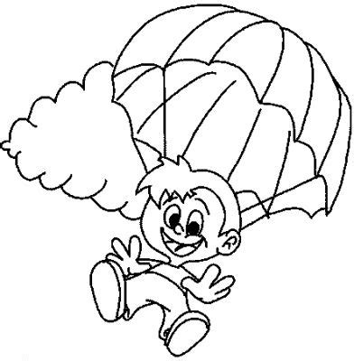 parachute coloring child coloring