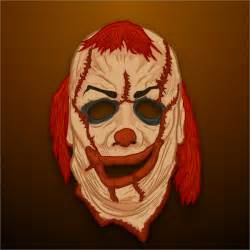 clown mask template 19 scary masks free vector ai eps pdf format