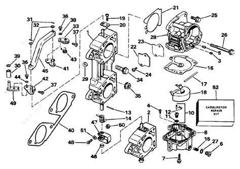 Evinrude 1988 225 E225txcce Carburetor And Linkage