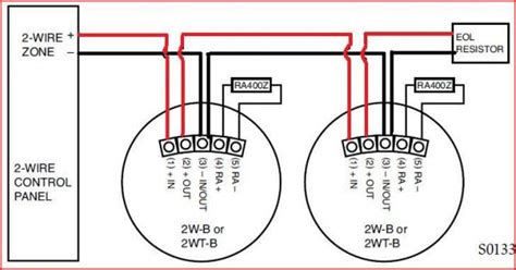 two wire smoke detector wiring schematic 40 wiring