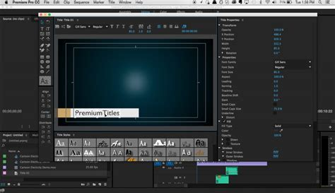 How To Create And Share Title Templates In Premiere Pro Adobe Premiere Title Templates