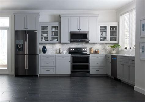 white kitchens with stainless steel appliances samsung brings black stainless steel finish to kitchen