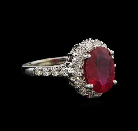 Ruby 3 45ct 3 45ct ruby and ring 14kt white gold