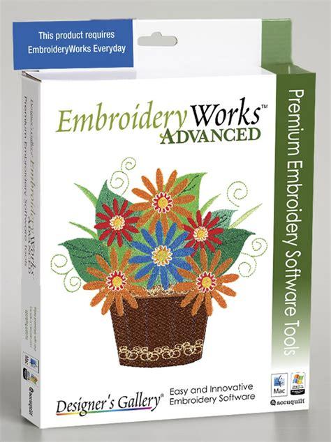 embroidery design catalog software embroideryworks advanced upgrade