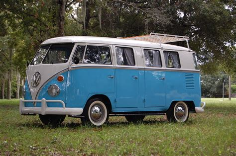 volkswagen minibus rare vw bus deluxe 13 window 6 door auto restorationice