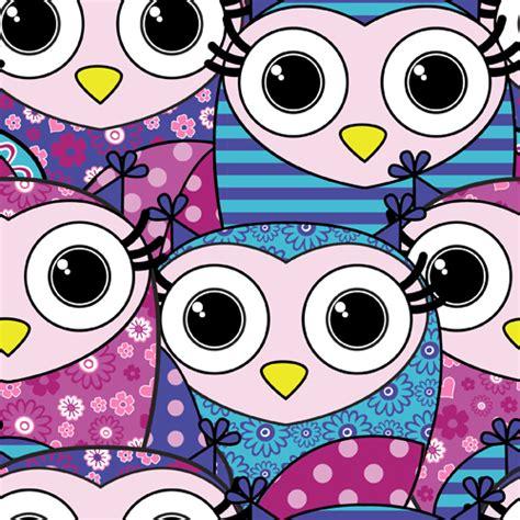 owl pattern vector free download cute cartoon owls vector seamless pattern 04 vector