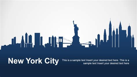 new york city silhouette for powerpoint slidemodel