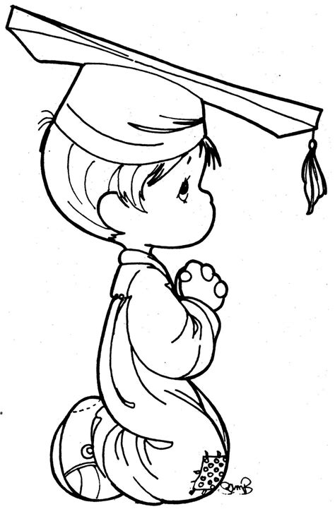 boy graduation coloring page free precious moments nurse coloring pages