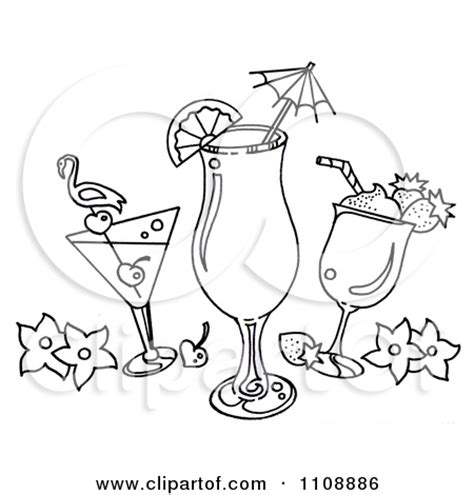 margarita clipart black and white drink black and white clipart clipart kid