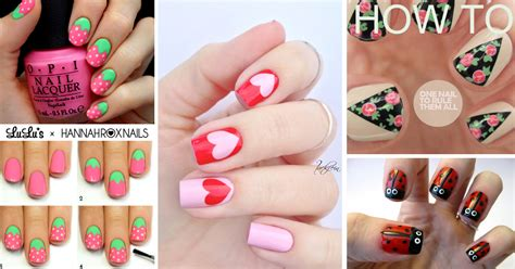 Easy Nail Design Ideas 50 cool simple and easy nail design ideas for 2016
