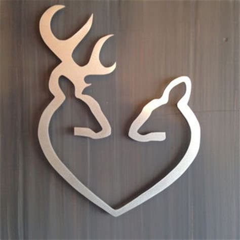metal hearts wall decor deer to my metal wall from inspiremetals on etsy