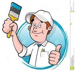 Painting Decorating Logos Cartoon House Painter Logo Stock Images Image 18336494