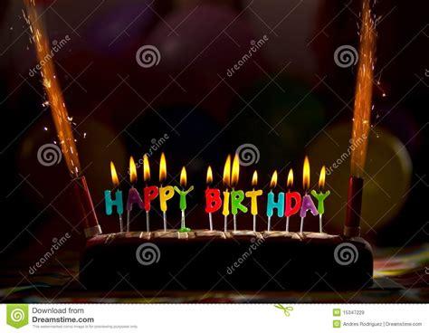 candele torta candele torta di buon compleanno immagini stock libere da