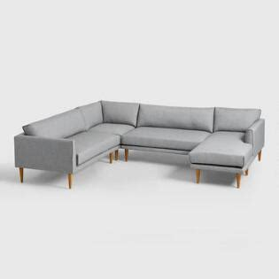 light gray hartley upholstered duet daybed sofas couches and loveseats world market