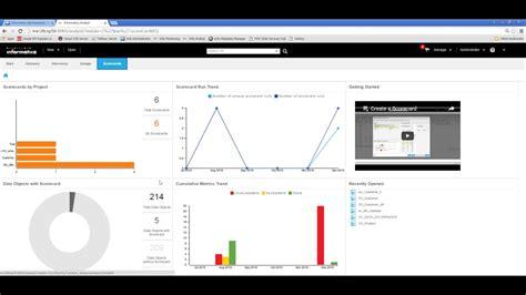 informatica analyst profile and scorecard intro youtube