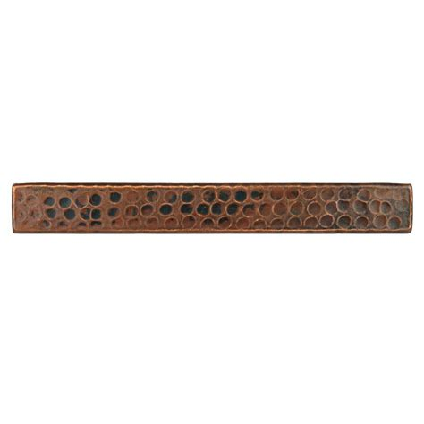 premier copper products 1 in x 8 in hammered copper