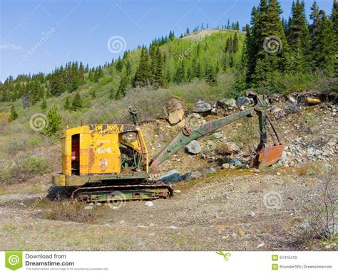Find In Bc An Excavator Used For Digging Ore At A Gold Mine In