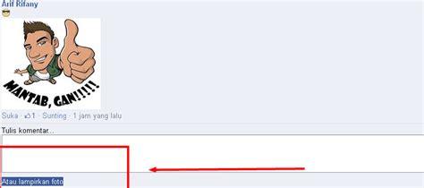membuat link gambar di facebook cara membuat komentar gambar tanpa link gambar sticker