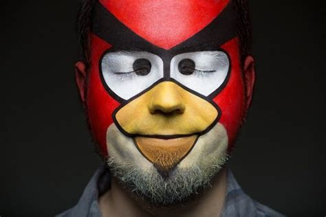 painting angry birds pop portraits from photographers