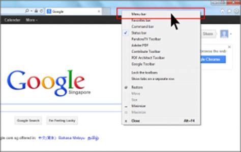 top menu bar disappears internet explorer 10 show menu bar simple stuffs