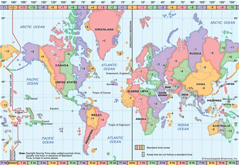 what is a map prime meridian time zones encyclopedia children s homework help