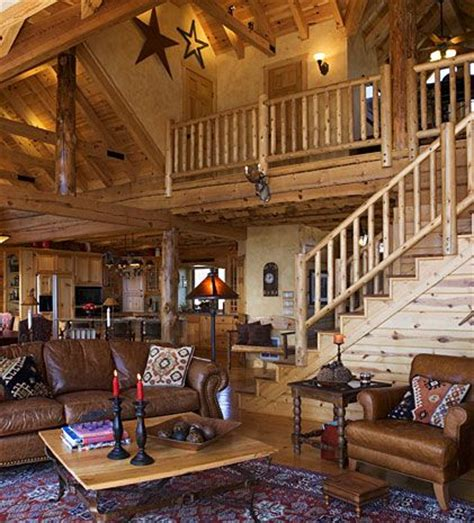 log cabin rooms log cabin great room with loft log cabin dreams