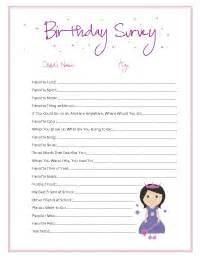 green birthday series kids birthday survey and free