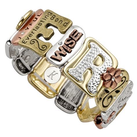 personalized gifts for women sentiment tile bracelet