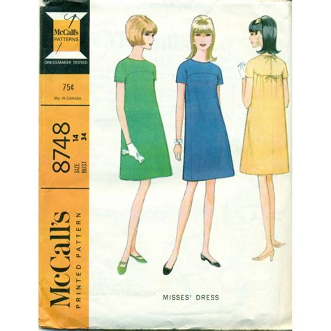 html pattern no whitespace vintage mccalls sewing pattern no 8748 mod dress angel