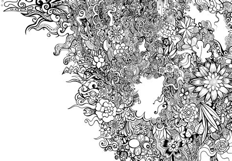 pattern flowers black and white black and white floral pattern by zyari on deviantart