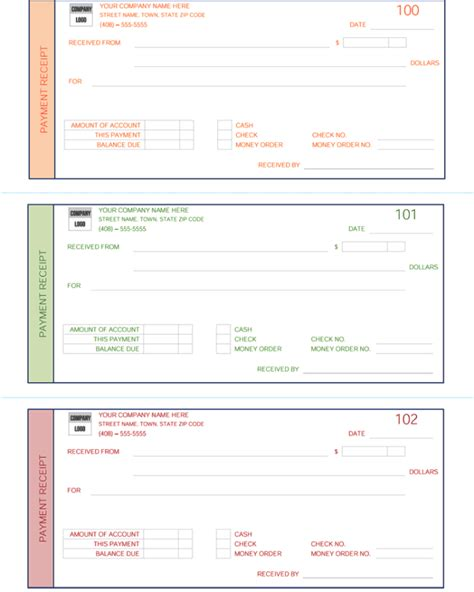 template for a receipt of payment payment receipt template 5 receipt maker formats