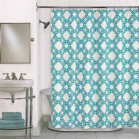bed bath and beyond uws trinity blue shower curtain in blue shower curtains