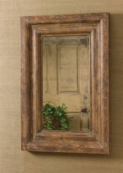 park designs distressed wooden framed beveled rectangular