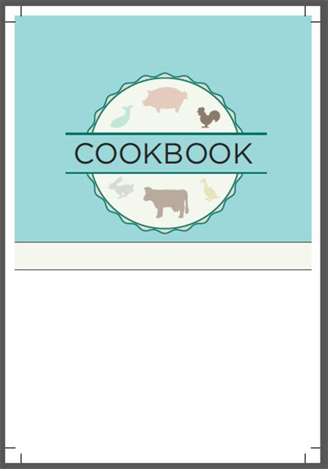 cookbook cover template design templates heritage cookbook