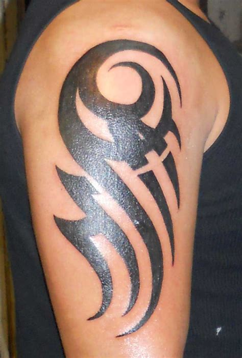 simple tribal arm tattoos 27 cool sleeve tattoos ideas livinghours