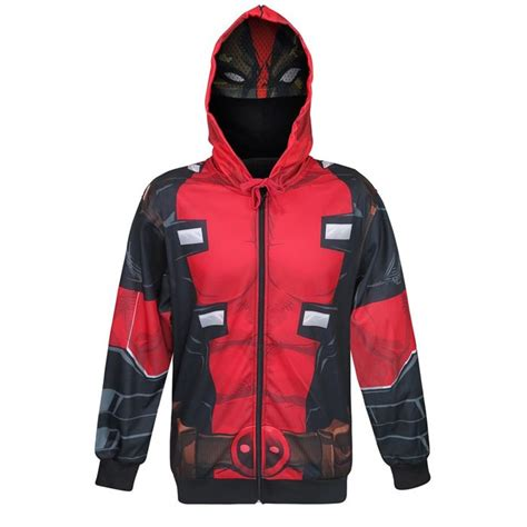 Hoodie Deadpool Dennizzy Clothing 2 deadpool sublimated s hoodie with mask