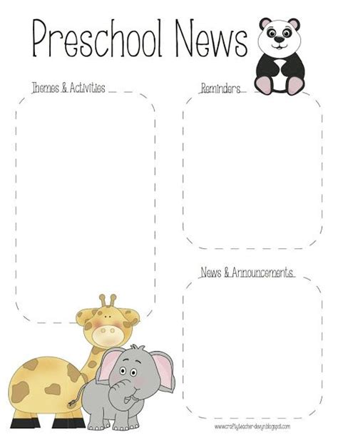 345 Best Images About Jungle Classroom On Pinterest Newsletter Templates Jungle Animals And Monkey Newsletter Template