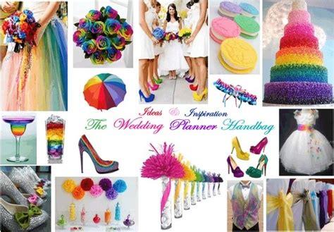 rainbow themed wedding decorations rainbow wedding theme wedding ideas rainbow