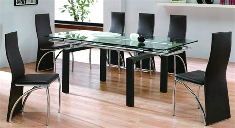 Dining Room Glass Tables glass top round dining tables best dining table ideas