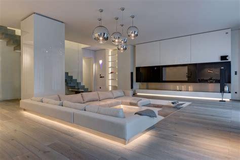 modern luxury homes interior design ruime moderne woonkamer met verzonken lounge huis