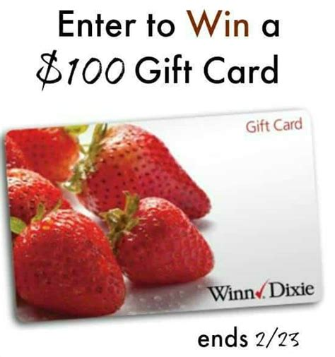 Winn Dixie Gift Cards - win 100 winn dixie gift card heartthis giveaway